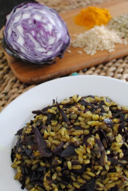 riso integrale cavolo rosso lenticchie 2