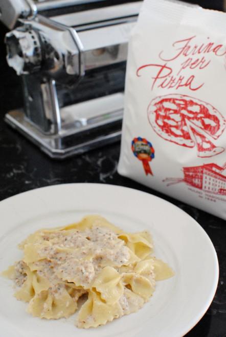 farfalle pasta with semolina and wheat flour, farfalle semola e frumento 1